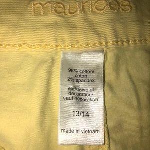 Maurices Shorts - Yellow shorts